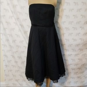 Express❤️Strapless black  party dress 👗